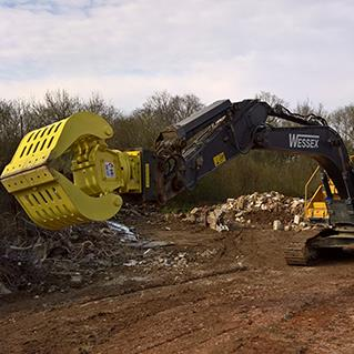 The second of two new model MBI Grapples installed for Wessex Demolition