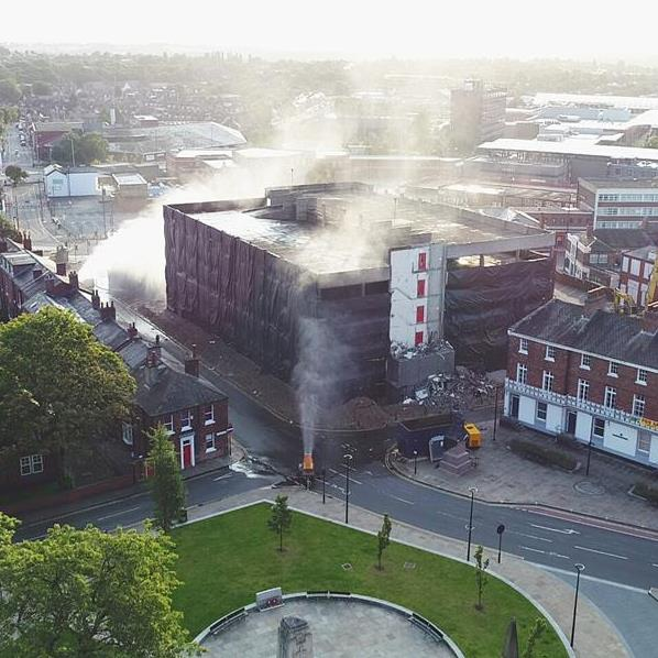 Wakefield Multi-Storey Car park Blowdown
