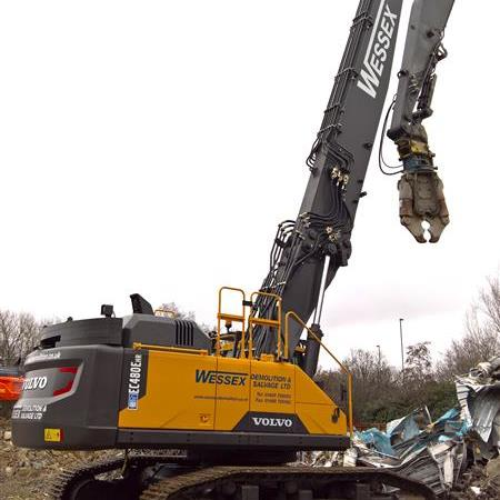 Wessex's new Volvo EC480 gets new attachments