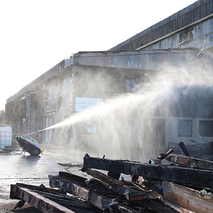 Sanctus use motofog on asbestos factory demolition
