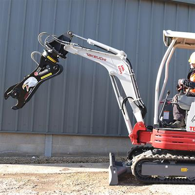 Inmalo fits MBI SH25 Shear to a 2.4 ton excavator